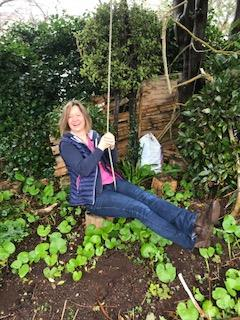 Sue on swing