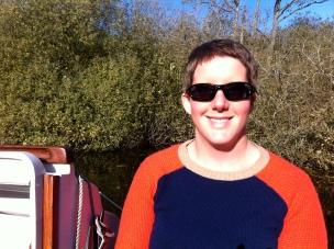 Julia on Boat